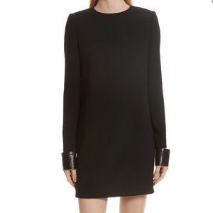 Helmut Lang NWT Leather Cuff Crepe Dress Sz 2